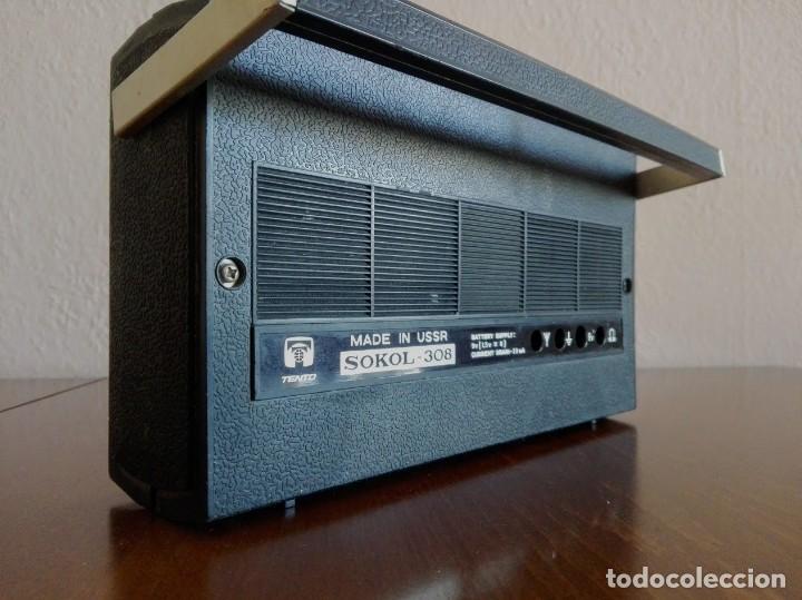 Radios antiguas: Radio ruso de transistores SOKOL 308, receptor de radio URSS, Vintage - Foto 5 - 165985826