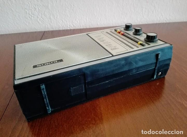 Radios antiguas: Radio ruso de transistores SOKOL 308, receptor de radio URSS, Vintage - Foto 7 - 165985826