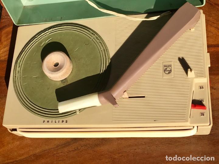 Radios antiguas: Philips All Transistor Tocadiscos Funcionando - Foto 2 - 166050558
