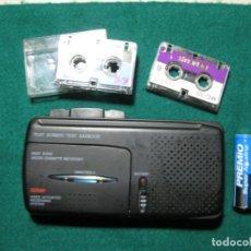 Radios antiguas: MICRO CASSETTE RECORDER VAR WD 200 - SE ACTIVA POR LA VOZ - 2 VELOCIDADES - 12X6X2 CM-NUEVO - 1990.. Lote 166308618