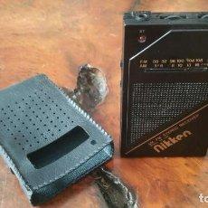 Radios antiguas: MINI RADIO TRANSISTOR DE BOLSILLO MARCA NIKKEN MODEL NK-50R MADE IN JAPAN DÉCADA DE LO 80 CON FUNDA. Lote 166715330
