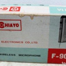 Radios antiguas: ANTIGUO MICRÓFONO INALÁMBRICO CHIAYO F-901A. Lote 166775650