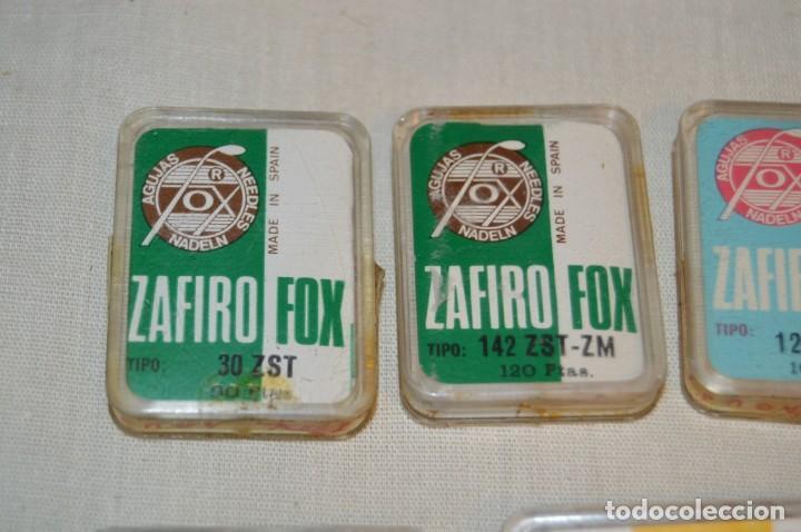 Radios antiguas: Lote 2 - De 7 ANTIGUAS AGUJAS TOCADISCOS, ZAFIRO FOX - Variadas y para diferentes cápsulas ¡Mira! - Foto 2 - 167171124