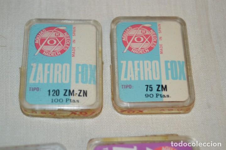 Radios antiguas: Lote 2 - De 7 ANTIGUAS AGUJAS TOCADISCOS, ZAFIRO FOX - Variadas y para diferentes cápsulas ¡Mira! - Foto 4 - 167171124