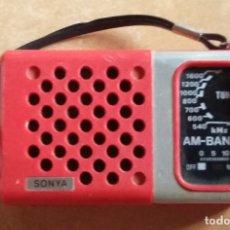 Radios antiguas: RADIO MARCA SONYA AM.. Lote 167601200