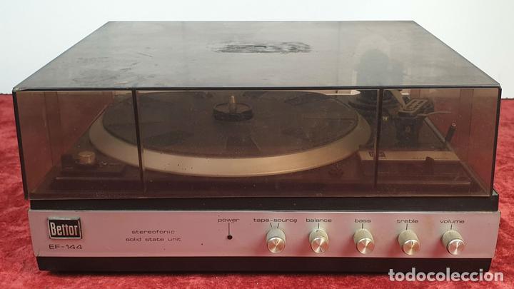 TOCADISCOS DUAL 1234. MODELO BETTOR EF-144. STERO. AUTOMÁTICO. CIRCA 1970. (Radios, Gramófonos, Grabadoras y Otros - Transistores, Pick-ups y Otros)