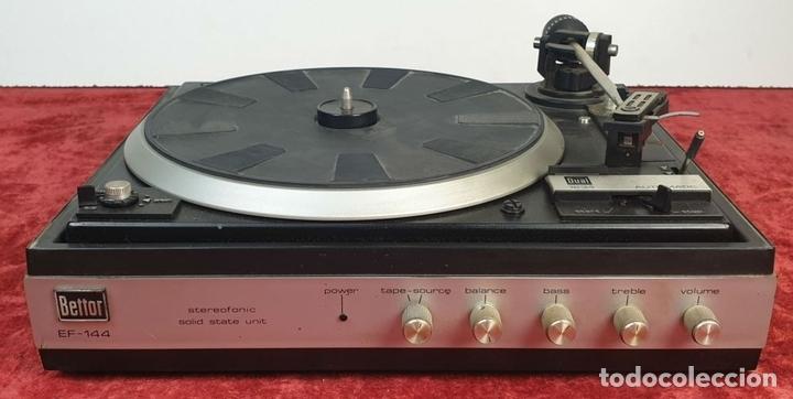 Radios antiguas: TOCADISCOS DUAL 1234. MODELO BETTOR EF-144. STERO. AUTOMÁTICO. CIRCA 1970. - Foto 2 - 167959888