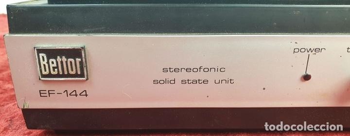 Radios antiguas: TOCADISCOS DUAL 1234. MODELO BETTOR EF-144. STERO. AUTOMÁTICO. CIRCA 1970. - Foto 9 - 167959888