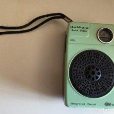 Radios antiguas: DE WALD SOLID STATE . Lote 168273892