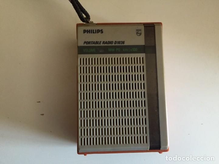 PHILIPS D 1036 (Radios, Gramófonos, Grabadoras y Otros - Transistores, Pick-ups y Otros)