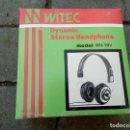 Radios antiguas: AURICULARES WITEC MODEL:WH-19V. Lote 168624128