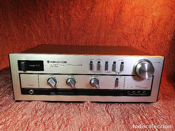 Radios antiguas: AMPLIFICADOR STEREO KENWOOD KA-300 - VINTAGE STEREO AMPLIFIER FUNCIONANDO PERFECTAMENTE - Foto 3 - 168964944