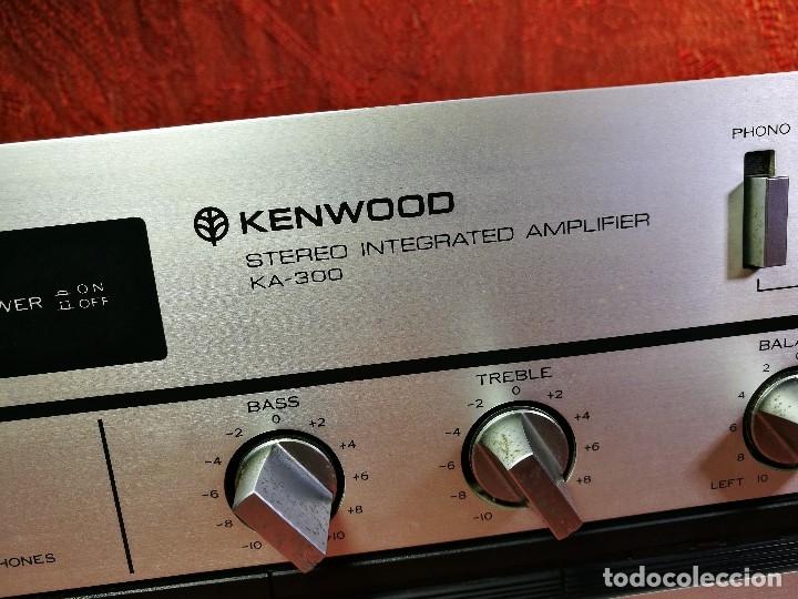 Radios antiguas: AMPLIFICADOR STEREO KENWOOD KA-300 - VINTAGE STEREO AMPLIFIER FUNCIONANDO PERFECTAMENTE - Foto 6 - 168964944