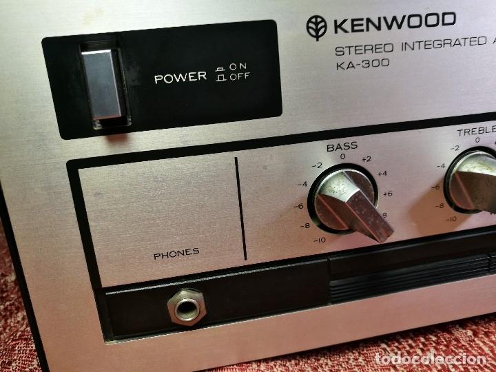 Radios antiguas: AMPLIFICADOR STEREO KENWOOD KA-300 - VINTAGE STEREO AMPLIFIER FUNCIONANDO PERFECTAMENTE - Foto 7 - 168964944