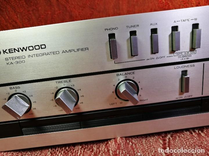 Radios antiguas: AMPLIFICADOR STEREO KENWOOD KA-300 - VINTAGE STEREO AMPLIFIER FUNCIONANDO PERFECTAMENTE - Foto 8 - 168964944
