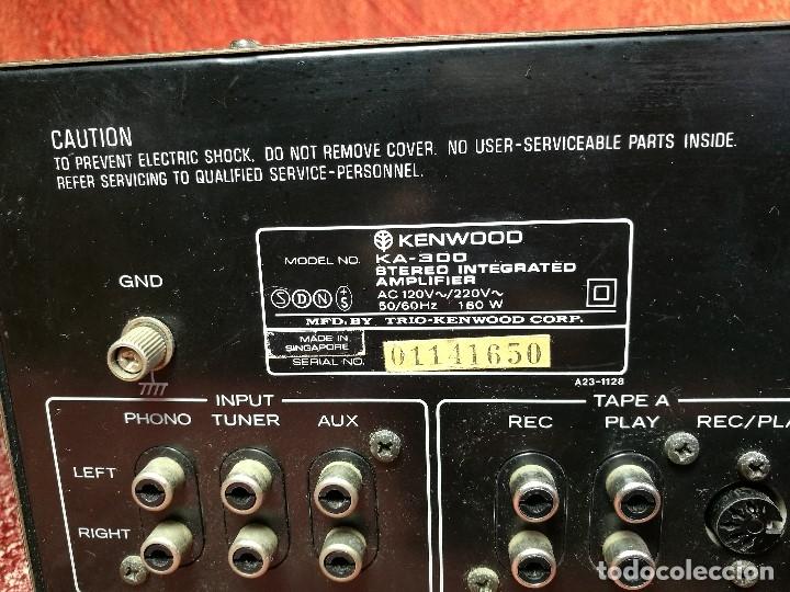 Radios antiguas: AMPLIFICADOR STEREO KENWOOD KA-300 - VINTAGE STEREO AMPLIFIER FUNCIONANDO PERFECTAMENTE - Foto 13 - 168964944