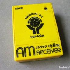 Radios antiguas: RADIO NEEKAI AM RECEIVER STEREO STYLING DEL CAMPEONATO DE FUTBOL DEL MUNDIAL 82 DE ESPAÑA. Lote 169864128
