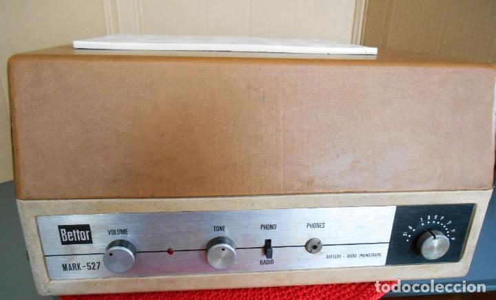 TOCADISCOS BETTOR - DUAL - MODELO :MARK - 527 .NO FUNCIONA (Radios, Gramófonos, Grabadoras y Otros - Transistores, Pick-ups y Otros)