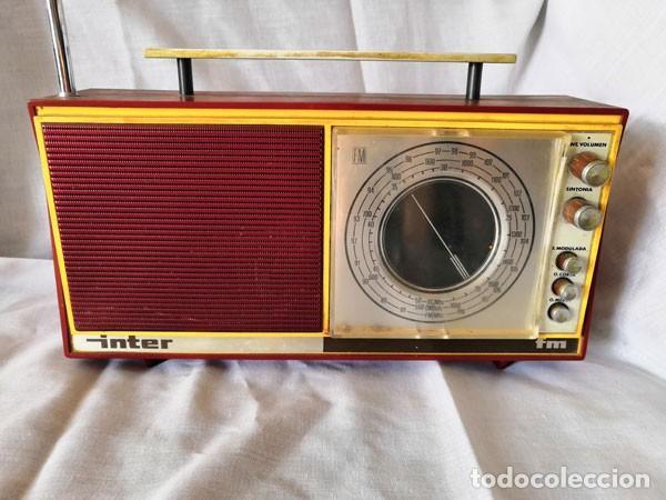 RADIO DE LA MARCA INTER AÑOS 60 - FUNCIONA - (Radios, Gramófonos, Grabadoras y Otros - Transistores, Pick-ups y Otros)