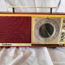 Radios antiguas: RADIO DE LA MARCA INTER AÑOS 60 - FUNCIONA -. Lote 170114844