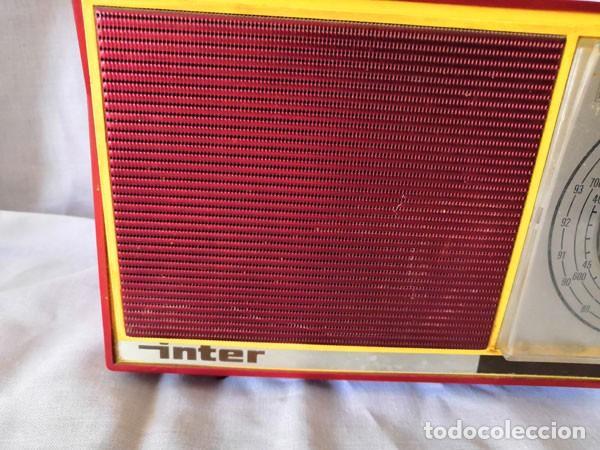 Radios antiguas: RADIO DE LA MARCA INTER AÑOS 60 - FUNCIONA - - Foto 6 - 170114844