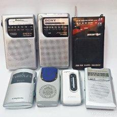 Radios antiguas: LOTE DE 7 RADIOS PARA PIEZAS, SONY,BRIGMTON,SANGEAR;SANYO.... Lote 171594899