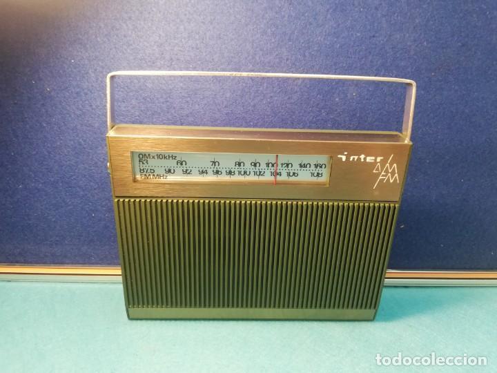 RADIO TRANSISTOR INTER FUNCIONANDO (Radios, Gramófonos, Grabadoras y Otros - Transistores, Pick-ups y Otros)