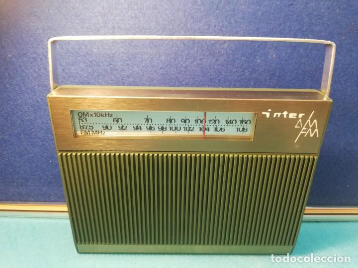 Radios antiguas: Radio transistor Inter FUNCIONANDO - Foto 2 - 171707215