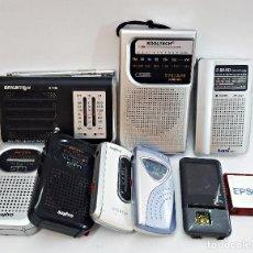 Radios antiguas: LOTE DE 9 RADIOS PARA PIEZAS, BRIGMTON,;SANYO, ZEN.... Lote 171708614