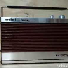 Radios antiguas: RADIO TRANSISTOR GRUNDIG MINI BOY. Lote 172094118
