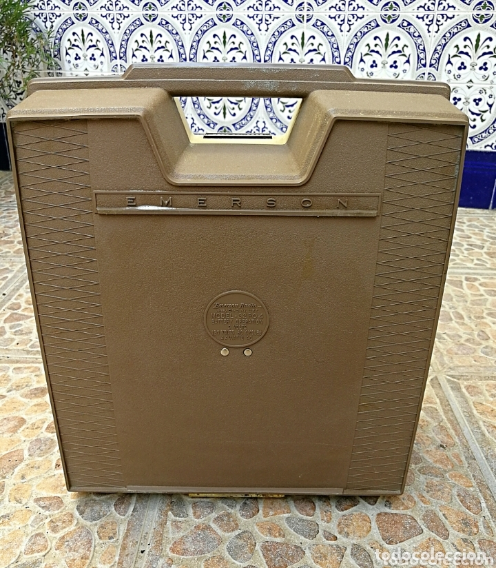 Radios antiguas: Toca discos portátil Emerson - Foto 4 - 172910015