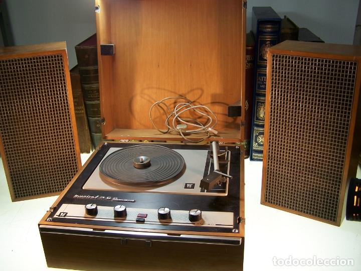 PICK-UP PERPETUUM-EBNER. MODELO MUSICAL 360 STEREO DELUXE. 125/220. FABRICADO EN ESPAÑA. (Radios, Gramófonos, Grabadoras y Otros - Transistores, Pick-ups y Otros)