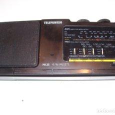 Radios antiguas: RADIO TELEFUNKEN MODELO PR25 4 FM PRESETS FUNCIONANDO A PILAS Y CORRIENTE. Lote 172969570