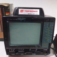 Radios antiguas: TOPSONIC MODEL: BTR-201 MINI TV & AM FM RADIO. Lote 173016374