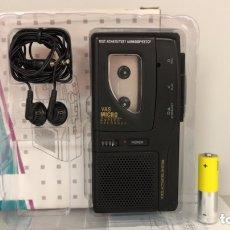 Radios antiguas: GRABADORA DE VOZ MICRO CASSETTE, FUNCIONA.. Lote 173648149