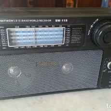 Radios antiguas: RADIO AM/FM/SW1-9 12 BAND WORLD RECEIVER SW-115 FUNCIONANDO. Lote 173860549