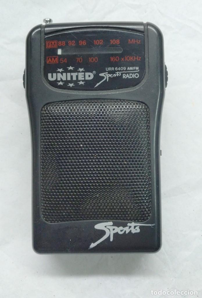 ELECTRONICA, RADIO TRANSISTOR UNITED SPORTS - NO FUNCIONA (Radios, Gramófonos, Grabadoras y Otros - Transistores, Pick-ups y Otros)