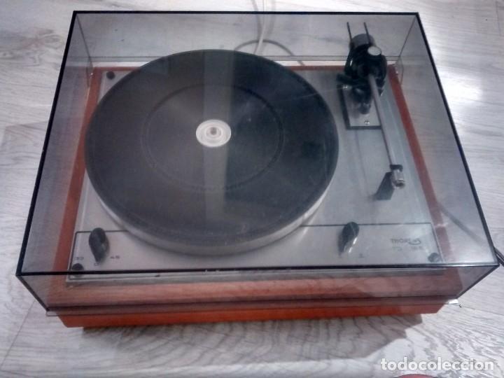 TOCADISCOS THORENS TD 166 (Radios, Gramófonos, Grabadoras y Otros - Transistores, Pick-ups y Otros)