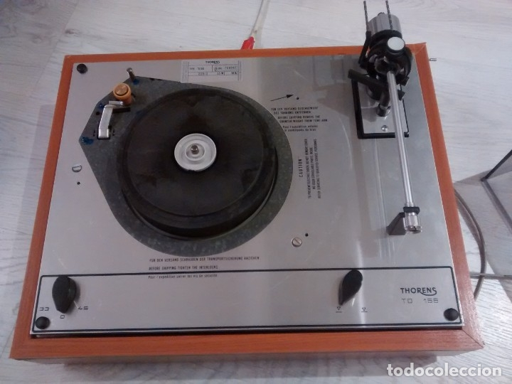 Radios antiguas: TOCADISCOS THORENS TD 166 - Foto 3 - 174016974