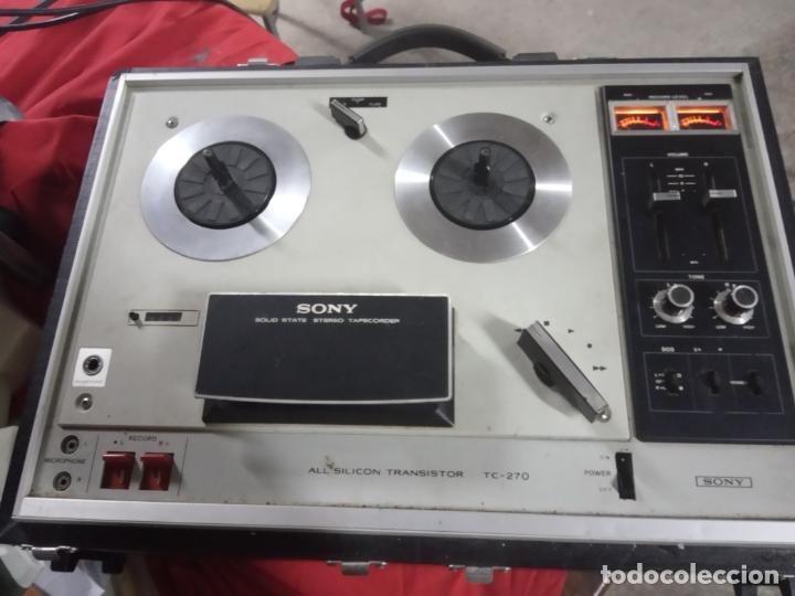 Radios antiguas: magnetofon sony tc-270-altavoces - Foto 2 - 174034632