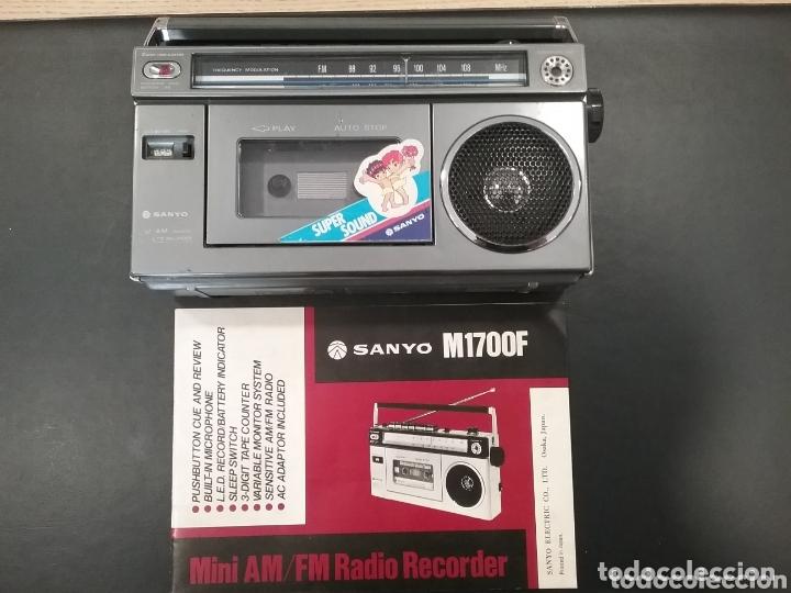 RADIOCASSETE SANYO M1700F (Radios, Gramófonos, Grabadoras y Otros - Transistores, Pick-ups y Otros)