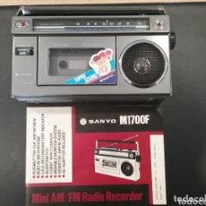 Radios antiguas: RADIOCASSETE SANYO M1700F. Lote 174134784