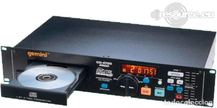 GEMINI CD PLAYER CD4700 PROFESIONAL LENTE NUEVA PEPETO ELECTRONICA (Radios, Gramófonos, Grabadoras y Otros - Transistores, Pick-ups y Otros)