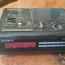 Radios antiguas: RADIO RELOJ DESPERTADOR SONY ICF-C2W DIGIMATIC FM/AM 2BANDS - FUNCIONA. Lote 175060744