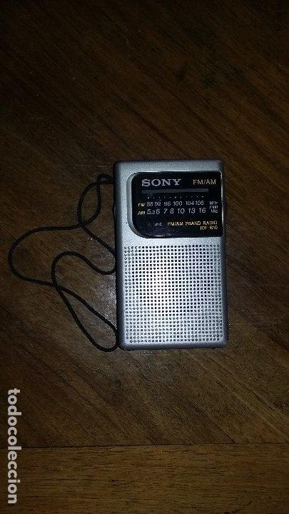 RADIO SONY AM - FM. (Radios, Gramófonos, Grabadoras y Otros - Transistores, Pick-ups y Otros)