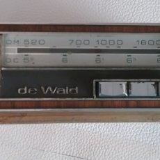 Radios antiguas: AUTO RADIO DE WALD HECHO EN ESPAÑA.. Lote 175532052