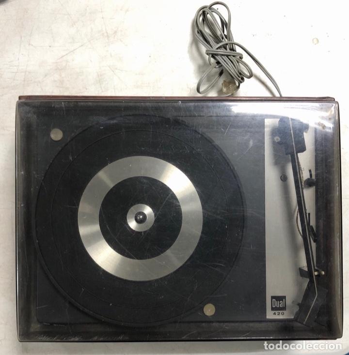 Radios antiguas: TOCADISCOS. BETTOR. MODELO EF-41. DUAL 420. FUNCIONANDO. SIN ALTAVOCES. - Foto 2 - 175758513