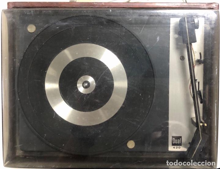 Radios antiguas: TOCADISCOS. BETTOR. MODELO EF-41. DUAL 420. FUNCIONANDO. SIN ALTAVOCES. - Foto 3 - 175758513