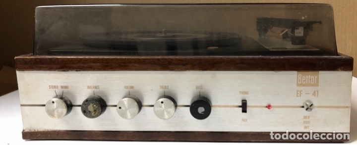 Radios antiguas: TOCADISCOS. BETTOR. MODELO EF-41. DUAL 420. FUNCIONANDO. SIN ALTAVOCES. - Foto 4 - 175758513