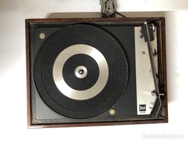 Radios antiguas: TOCADISCOS. BETTOR. MODELO EF-41. DUAL 420. FUNCIONANDO. SIN ALTAVOCES. - Foto 5 - 175758513